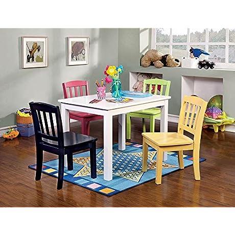 Baynes Youth 5pc Kids Table Set White