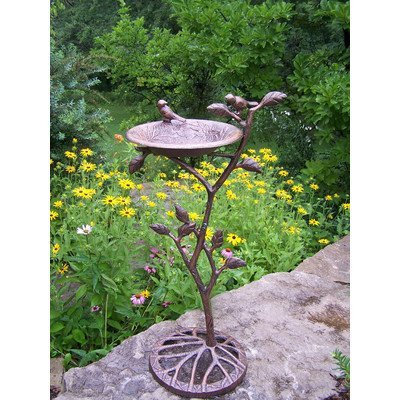 Oakland Living Meadow Bird Bath, Antique Bronze