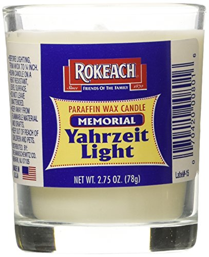 Tumbler Wax Candle (Rokeach Memorial Yahrzeit Tumbler, 1-count (Pack of 24))
