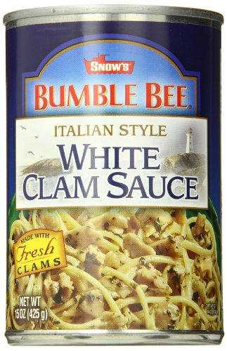 SNOW'S BY BUMBLE BEE Italian Style White Clam Sauce, Gluten Free Food, Canned Food, Delicious Sauce for Linguini and Other Pasta Varieties, 15 Ounce Can (Pack of 12)