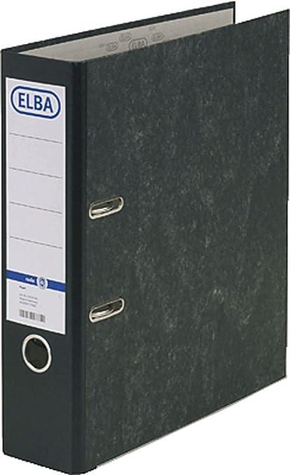 Elba 100081009 - Archivador, formato A4, 80 mm, 10 unidades