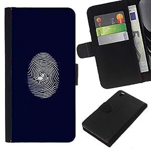 LECELL--Cuero de la tarjeta la carpeta del tirón Smartphone Slots Protección Holder For HTC DESIRE 816 -- Telaraña de huellas dactilares --