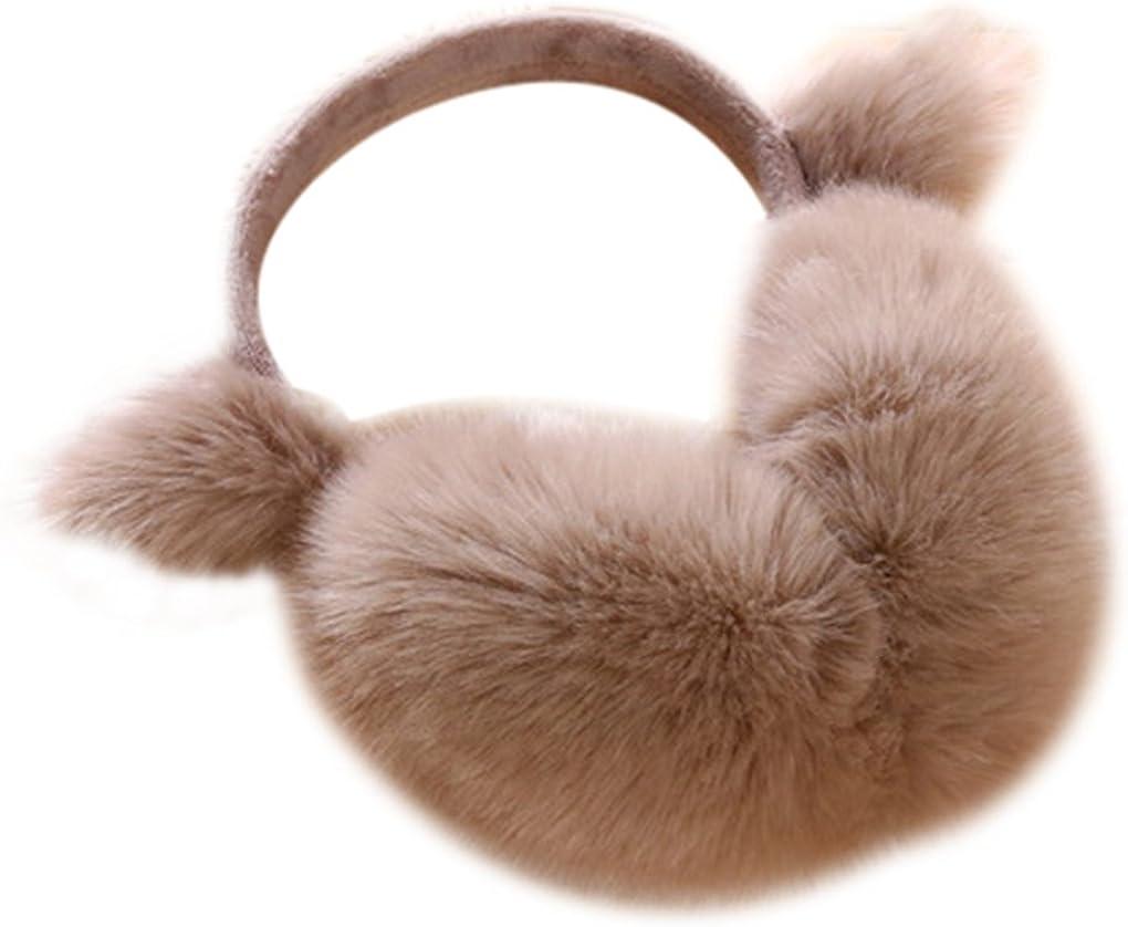 Paraorecchie Invernali da Donna in Peluche Paraorecchie Inverno Paraorecchie per Esterno Paraorecchie Caldi di Peluche Justay Earmuffs Invernali