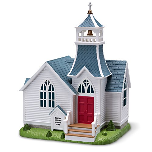 Hallmark Keepsake Christmas Ornament 2018 Year Dated, Joyful, Joyful We Adore Thee Church With Music (Tunes In The Church 2018)