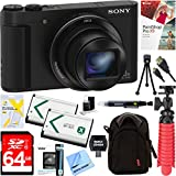 Sony Cyber-Shot DSC-HX90V Compact Digital Camera (Black) + 64GB SDXC Memory Dual Battery + Accessory Bundle