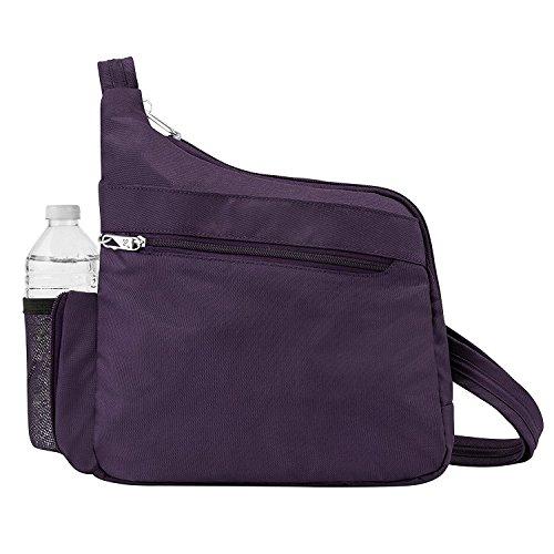Travelon Anti-Theft Messenger Style Crossbody, Purple by Travelon