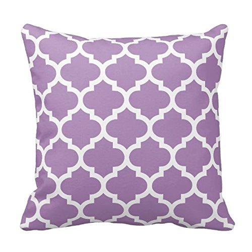 Violeta púrpura y blanco decorativo fundas de cojín manta ...