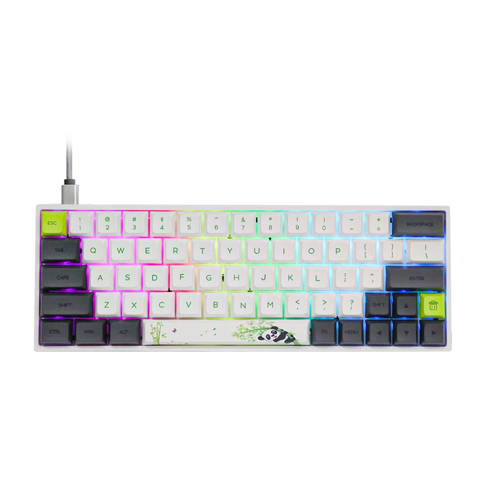 Teclado Mecanico Gateron Red Switches SK64S Hot Swappab -2CZ