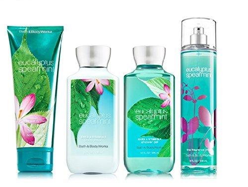 Bath & Body Works EUCALYPTUS SPEARMINT Deluxe Gift Set - Body Lotion - Body Cream - Fragrance Mist & Shower Gel Full Size by Bath & Body Works
