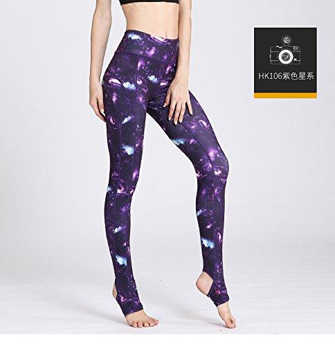 JIALELE Yogahose Stempel Yoga Hose Sport Fitness Tanz Instant-Dry Pop-Yoga Enge Hosen Hosen