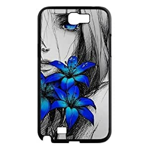 Customized Durable Case for Samsung Galaxy Note 2 N7100, Art Design Of Girl Phone Case - HL-R673949