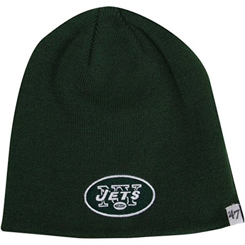 '47 York Jets Green Skull Cap - NFL Cuffless Beanie Knit Hat