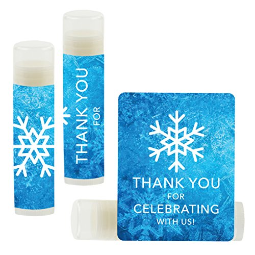 Andaz Press Lip Balm Birthday Party Favors, Thank You for Celebrating with Us, Frozen Snowflake, 12-Pack, Cinco de Mayo Mexican Fiesta Themed Decor -
