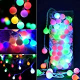 YCDC Colorful Ball String Lights LED Xmas Dance Party Outdoor/Indoor Decor X8