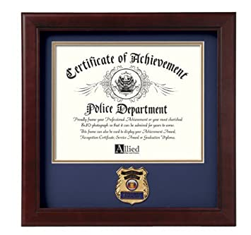 amazon allied frame police officer certificate of achievement
