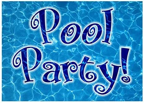 Swimming Pool Party Pack of 10 The Card Gallery Kids Birthday Invitations