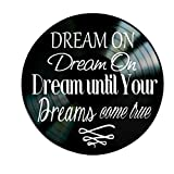 Dream On song lyrics by Aerosmith on Vinyl Record Album Wall Art