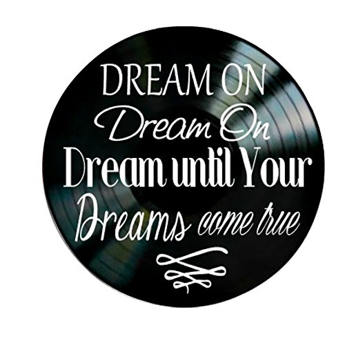 Dream On song lyrics by Aerosmith on Vinyl Record Album Wall Art by VinylRevamped
