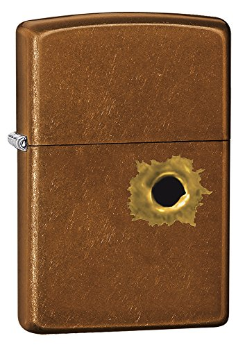 Zippo Bullet Hole Toffee Pocket Lighter