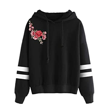6a17817f62ca Sweatshirt Hoodie Clearance Sale! Seaintheson Womens Long Sleeve Style  Hoodie Jumper Hooded Pullover Tops Blouse