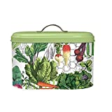 vegetable bread bin - Michel Design Works Metal Kitchen Bread Bin/Box with Lid, Vegetable Kingdom