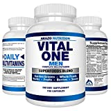 VITAL ONE Multivitamin for Men – Daily Wholefood Supplement - 150 Vegan Capsules – Arazo Nutrition