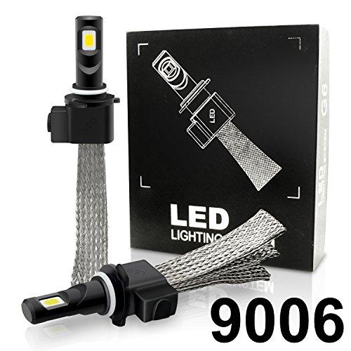 Autolizer Fanless G6 LED Headlight Conversion Kit - 9006 (HB4/9012) - COB 2-Sided - 52W, 5000LM 6000K Xenon White - CanBUS Error Free Headlamp