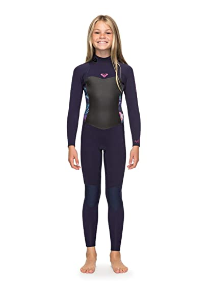 e3705e5248 Roxy 4 3mm Syncro Series - Back Zip GBS Wetsuit for Girls 8-16 ERGW103016   Roxy  Amazon.co.uk  Clothing