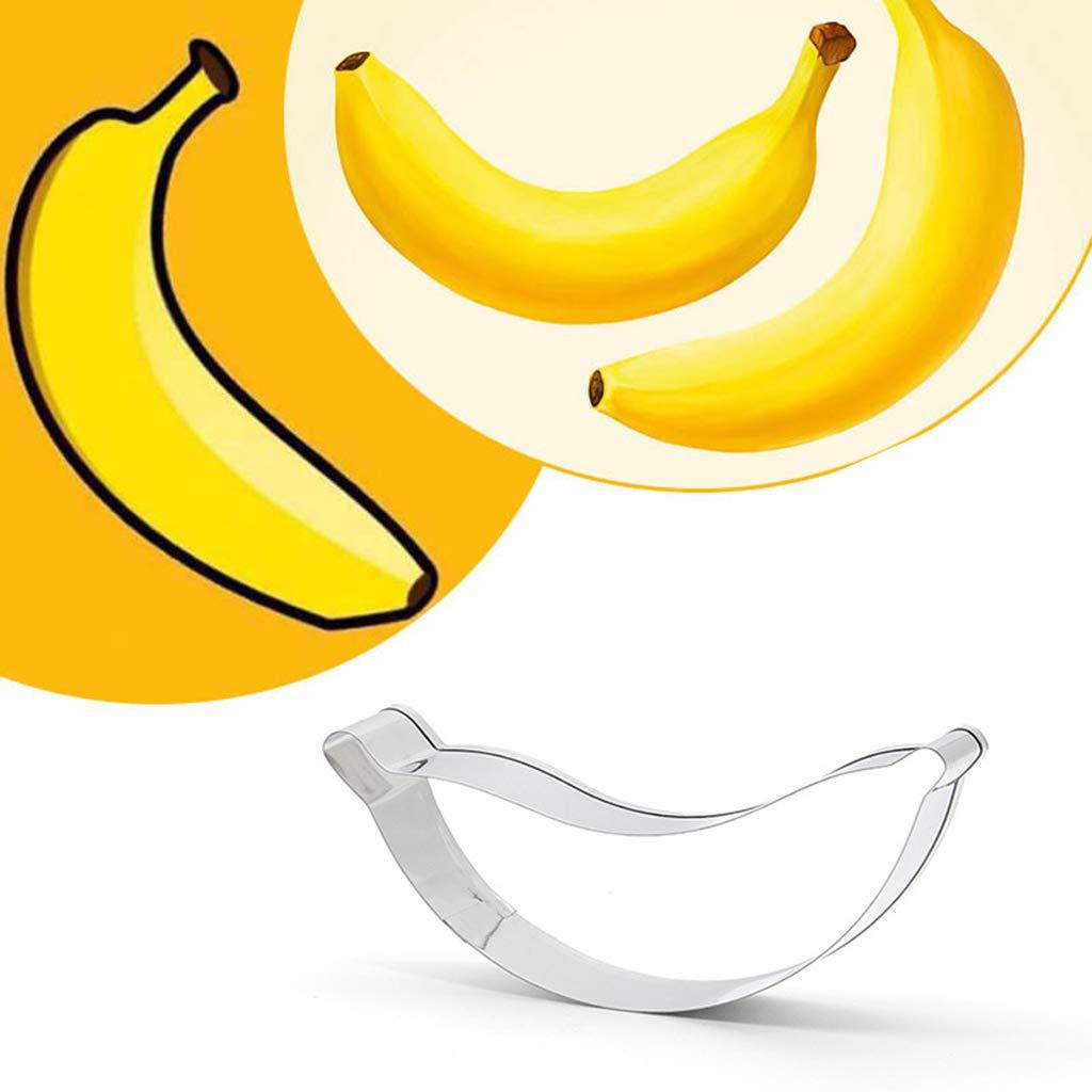 Eliky - Juego de 7 moldes para hornear fruta y plátanos (acero ...
