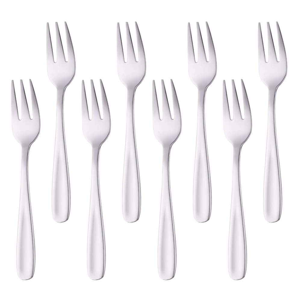 Do Buy 5.5 Inch Salad Forks Appetizer Forks Dessert Fork Black Set of 8