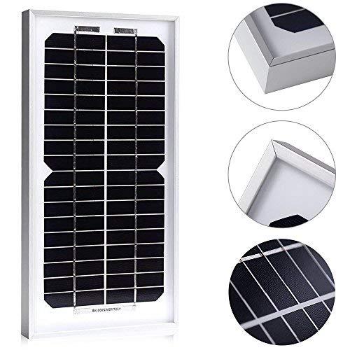 ACOPOWER 5 Watt 5W Monocrystalline Mono Solar Panel for 12 Volt Battery Charging, Off Grid