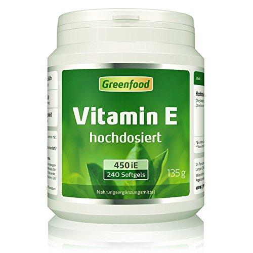 Vitamin E, 400 iE, 240 Softgels, hochdosiert - enthält alpha-, beta- & gamma-Tocopherole, starkes Antioxidans, Anti-Aging-Faktor