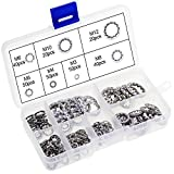 WiMas 270PCS Internal Tooth Lock Washers Stainless Steel M3 M4 M5 M6 M8 M10 M12 Gasket Washers Assortment Kit