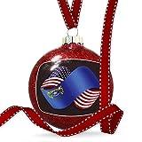 Christmas Decoration Friendship Flags USA and Nevada region America (USA) Ornament