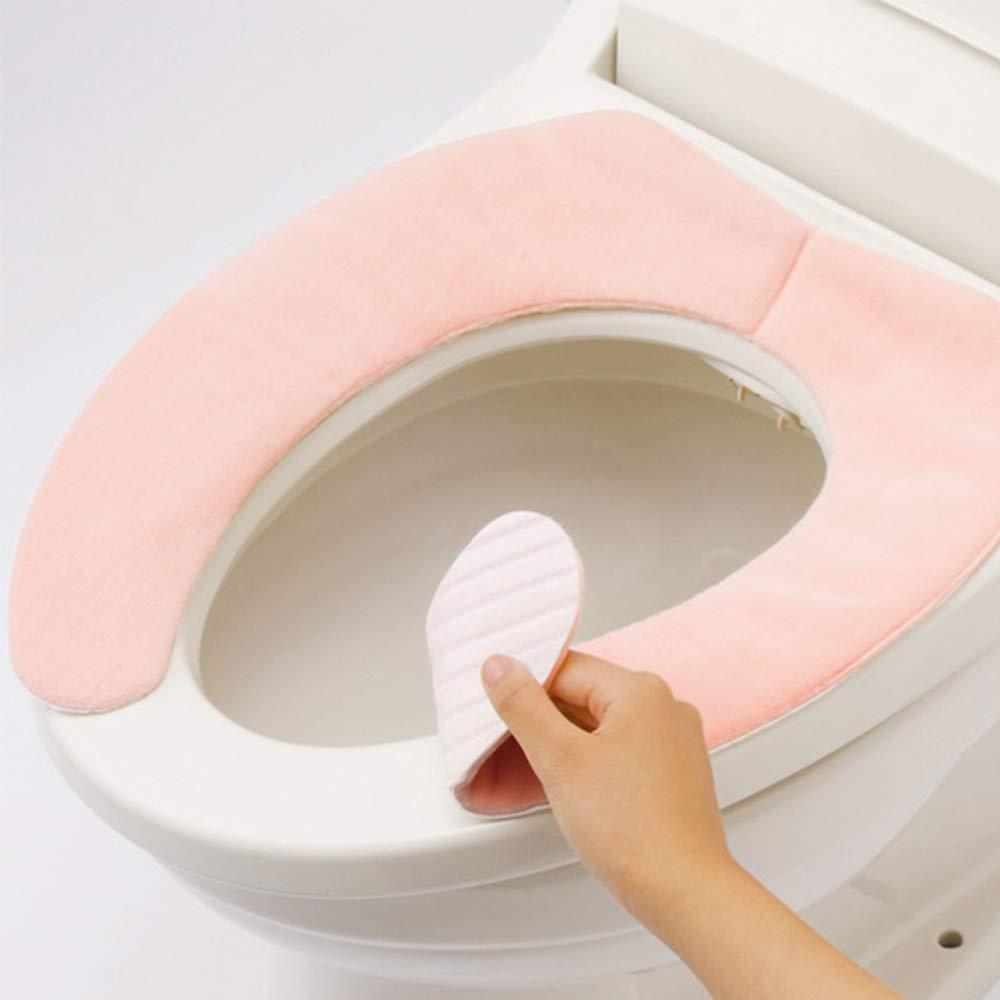 Ogquaton Tissus Anti-d/érapants de Grande Taille Tampons de Toilette Voyage Couvre-si/ège de Formation pour Pot de Formation portatif r/éutilisable Doublures Rose