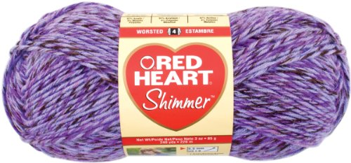 Red Heart Shimmer Yarn, Multi, Purple Haze (Shimmer Red Heart)