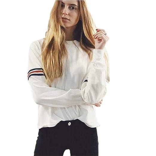 8856e0941 Crewneck Sweatshirts Women Cute Tumblr Pullover Sweaters Oversized Plus  Size Teen Girls (White, Small