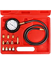 N / A JIFETOR Engine Oil Pressure Gauge Transmission Fluid Diagnostic Tester Tool Kit 12PCS, 500psi Automatic Gearbox Pressure Meter with Hose and Adapters