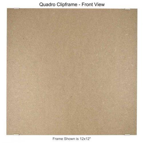 (Quadro Clip Frame 12x12 inch Borderless Frame, Box of 4)
