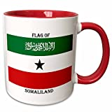 "3dRose mug_211366_5 ""Flag of Somaliland Two Tone Red"" Mug, 11 oz, Red/White"