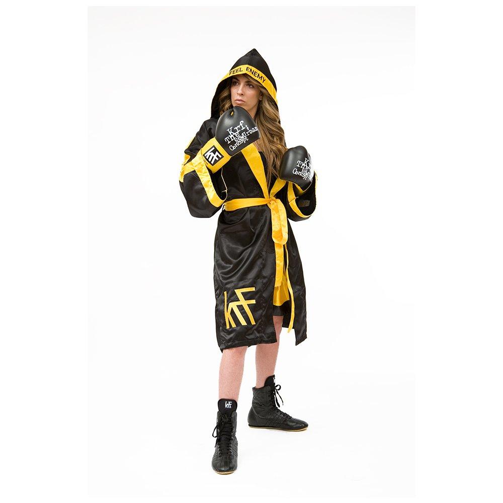 KRF Feel The Enemy 0013299 Bata competición de Boxeo, Hombre, Negro, M: Amazon.es: Deportes y aire libre