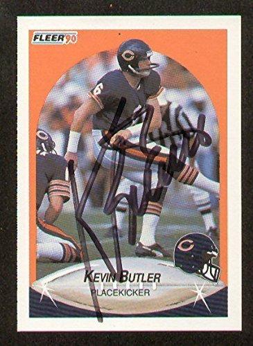 Kevin Butler signed autograph 1990 Fleer Football Card