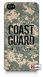 Proud Coast Guard Wife Desert Digital Camo iphone 6 plus Quality Hard Snap On Case for iphone 6 plus - AT&T Sprint Verizon - White Case