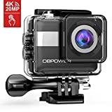 DBPOWER 4K Action Camera, 2.31in Touchscreen 20MP Sony Sensor Sports Camera, EIS Wi-Fi Underwater Camera With 170° Wide-Angle Lens Including 2 Rechargeable Batteries And Accessories Kit
