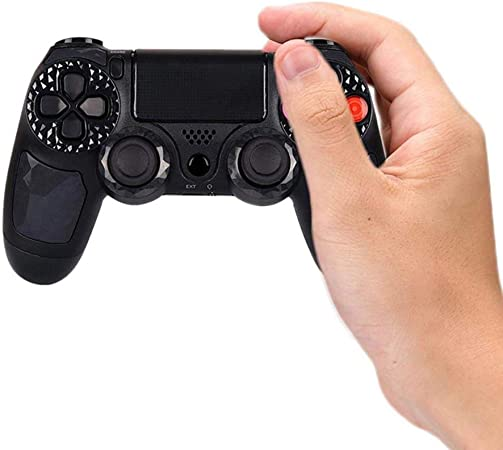 TEEPAO - Mando inalámbrico para PS4 con Bluetooth, Barra de luz de Agarre, Doble Almohadilla táctil, Mando a Distancia para Playstation 4 PSTV Smart TV PC LOPTOPS (Azul): Amazon.es: Hogar