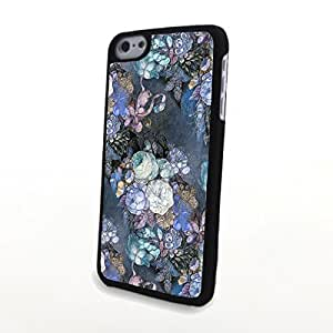 Generic PC Phone Cases Charming Liveliy Beautiful Flowers Matte Pattern fit for Colorful Flowery iPhone 5C Case