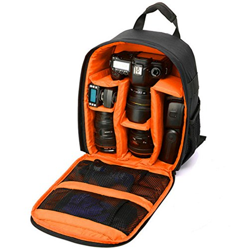 DRF Backpack for DSLR Cameras and Accessories Daypack Outdoor BG250 (Orange)