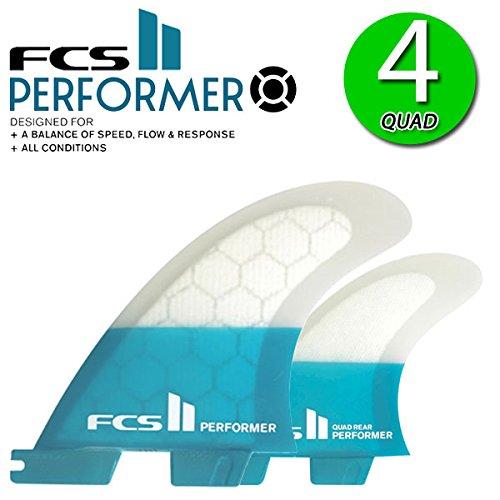 FCS2 フィン パフォーマー PERFORMER PC QUAD FIN S M L / エフシーエス2 トライクアッドフィン ショートボード サーフボード サーフィン 2017 L