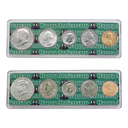 (1979-2019 40th Anniversary Year Coin Set in Happy Anniversary Holders Uncirculated)
