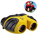 #10: Gifts for 3-12 Years Old Boys, DIMY Compact 8x21 Shock Proof Binoculars for Bird Watching Kids Telescope for Teens Toys for 3-12 Years 0ld Boys Yellow DL03